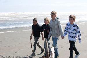 Boys at beach