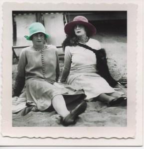 Two women on beach