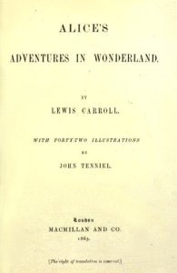 Title page Alice's Adventures in Wonderland
