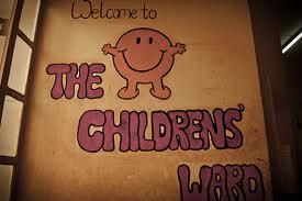 Children's ward sign