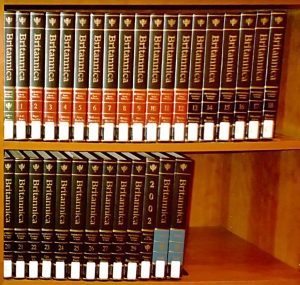 Encyclopaedia Britannica in bookcase