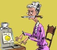 Granny on computer