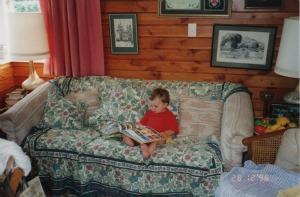 James reading