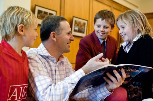 PM John Key and children