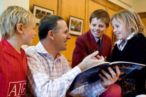 PM John Key and children