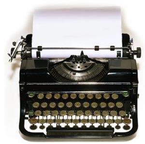 Manual typewriter