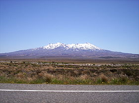 Mt Ruapehu in summer