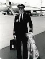 Pilot with guide dog