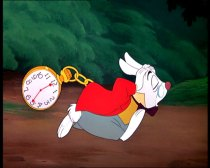White rabbit with watch