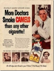 Doctors smoking