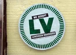 Luncheon Vouchers sign