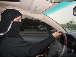 Saudi woman at wheel