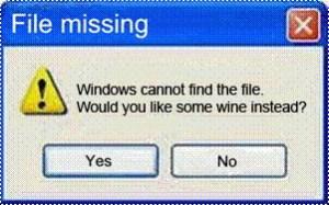 File missing
