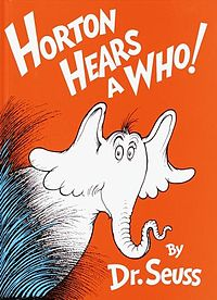 Book cover Horton Hears a Who