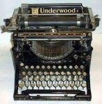 Early typewriter