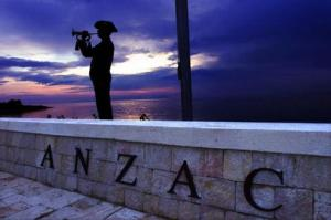 Trumpeter sounding the Last Post