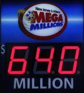 Mega Millions sign