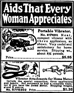 Sears catalogue advertising vibrator
