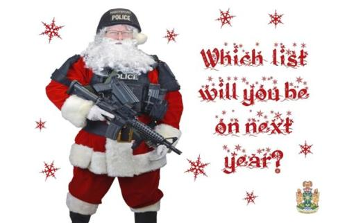 Santa gets tough