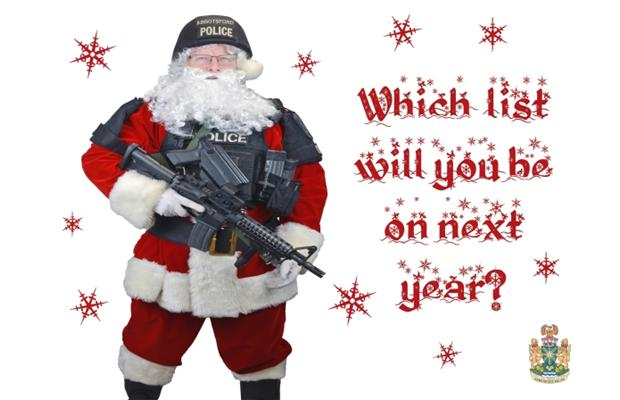 Santa gets tough