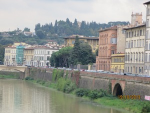 Houses along the River Arno