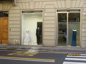 A bridal gown shop