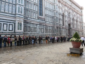 Queues at the Duomo
