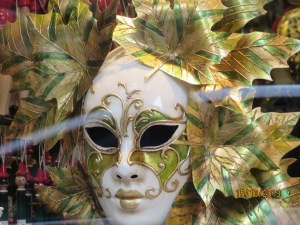 Mask in shop window