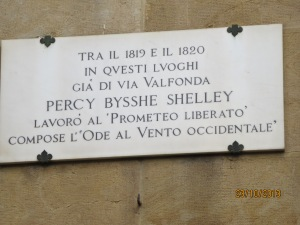 Percy Byshe Shelly placque