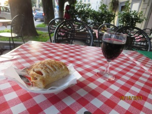 Red wine and brioche