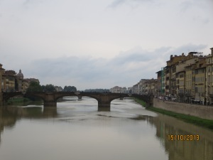River Arno rom Ponte Vechio