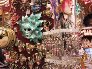 A Display of masks inside the shop