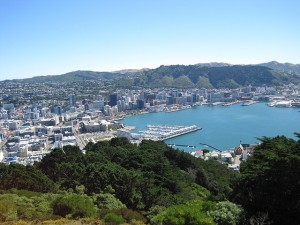 Wellington city and harbour.