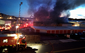Fire at storage unit