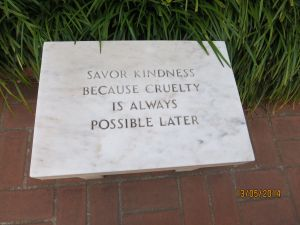 The plaque at the entrance to the Peggy Guggenheim Museum