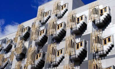 Scottish parliament building in Holyrood Edinburgh